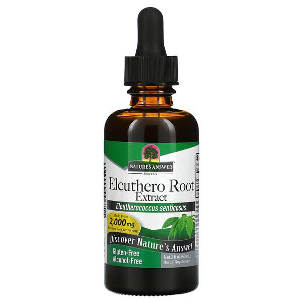 Eleuthero Root Extract, Alcohol-Free, 2,000 mg, 2 fl oz (60 ml)