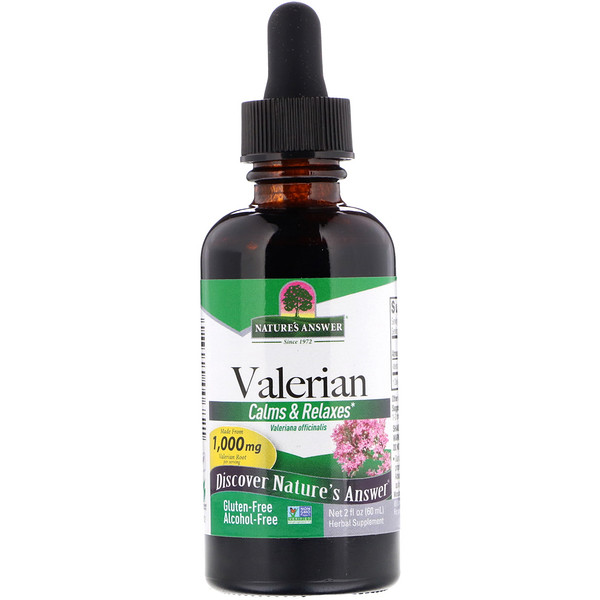 Valerian, Alcohol-Free, 1,000 mg, 2 fl oz (60 ml)