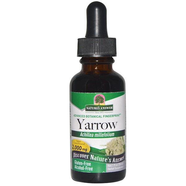 Yarrow, Alcohol-Free, 2,000 mg, 1 fl oz (30 ml)