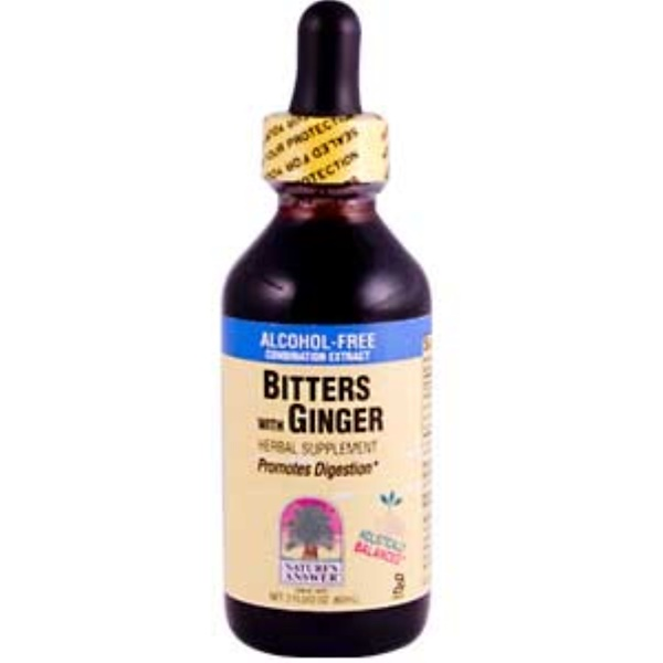 Nature's Answer, Bitters with Ginger, Alcohol-Free, 2 fl oz (60 ml) (Discontinued Item)