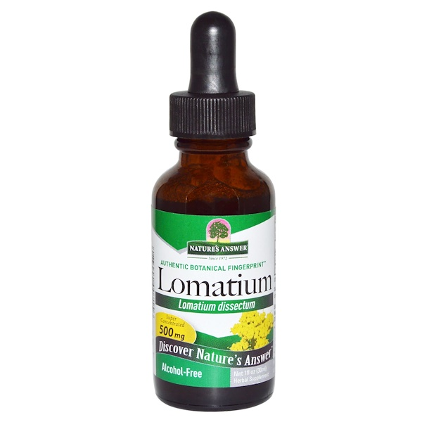 Nature's Answer, Lomatium, Alcohol Free, 1 fl oz (30 ml) (Discontinued Item)