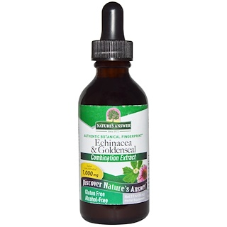 Nature's Answer, Echinacea & Goldenseal, Alcohol-Free, 1,000 mg, 2 fl oz (60 ml)