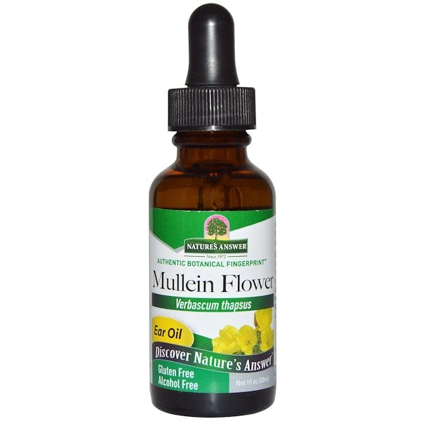 Nature's Answer, Mullein Flower, Ear Oil, Alcohol Free, 1 fl oz (30 ml)