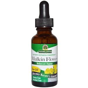 Натурес Ансвер, Mullein Flower, Ear Oil, Alcohol Free, 1 fl oz (30 ml) отзывы покупателей