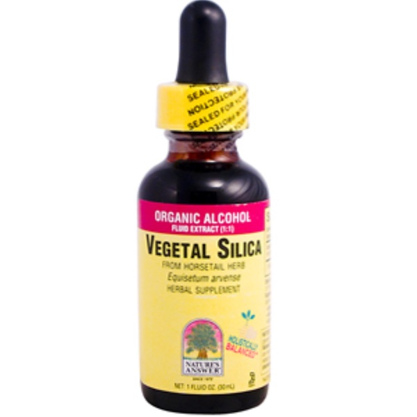 Nature's Answer, Vegetal Silica from Horsetail Herb, Organic Alcohol Extract, 1 fl oz (30 ml) (Discontinued Item)