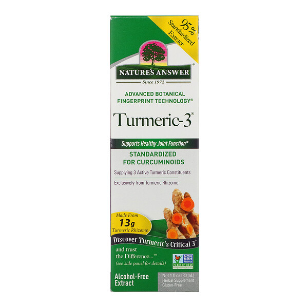 Nature's Answer, Turmeric-3,不含酒精,1 液量盎司(30 毫升)