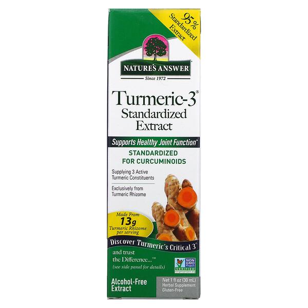 Nature's Answer, Turmeric-3, Alcohol-Free, 1 fl oz (30 ml)