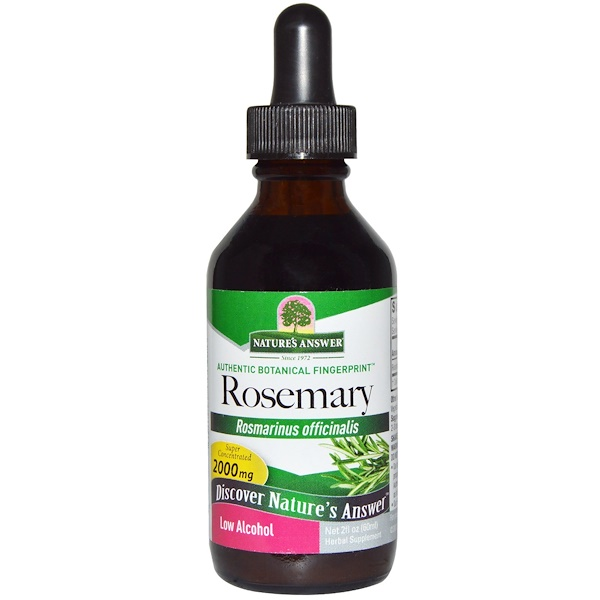 Nature's Answer, Rosemary, Low Alcohol, 2000 mg, 2 fl oz (60 ml) (Discontinued Item)