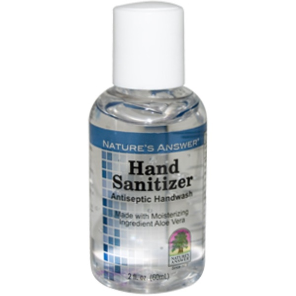 Nature's Answer, Hand Sanitizer, Antiseptic Handwash, 2 fl oz (60 ml) (Discontinued Item)