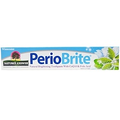 Nature's Answer, PerioBrite, Natural Brightening Toothpaste with CoQ10 & Folic Acid, Wintermint, 4 fl oz (113.4 g)