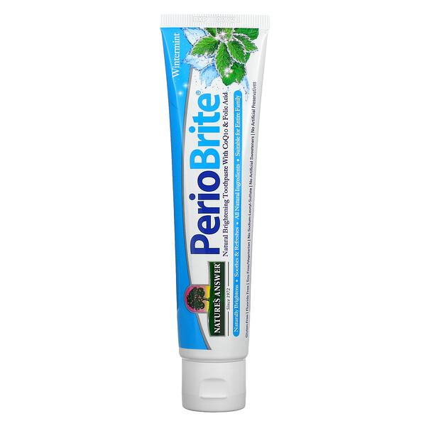 PerioBrite, Natural Brightening Toothpaste with CoQ10 & Folic Acid, Wintermint, 4 fl oz (113.4 g)