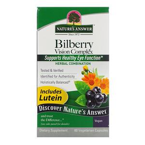 Натурес Ансвер, Bilberry Vision Complex, 60 Vegetarian Capsules отзывы покупателей