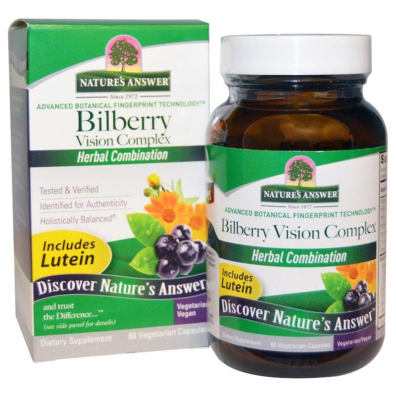 Bilberry Vision Complex, 60 Vegetarian Capsules