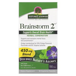 Nature's Answer, Brainstorm 2, Herbal Combination, 450 mg, 90 Vegetarian Capsules