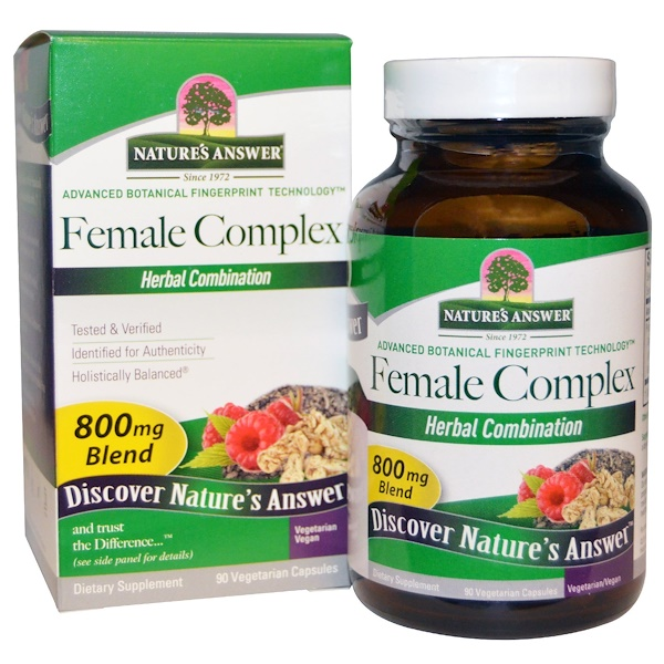 Nature's Answer, Female Complex, Herbal Combination, 800 mg, 90 Vegetarian Capsules