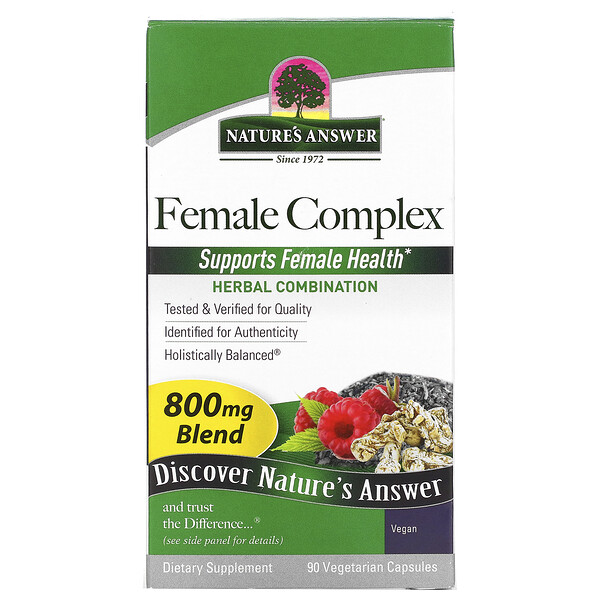 Female Complex, Herbal Combination, 800 mg, 90 Vegetarian Capsules