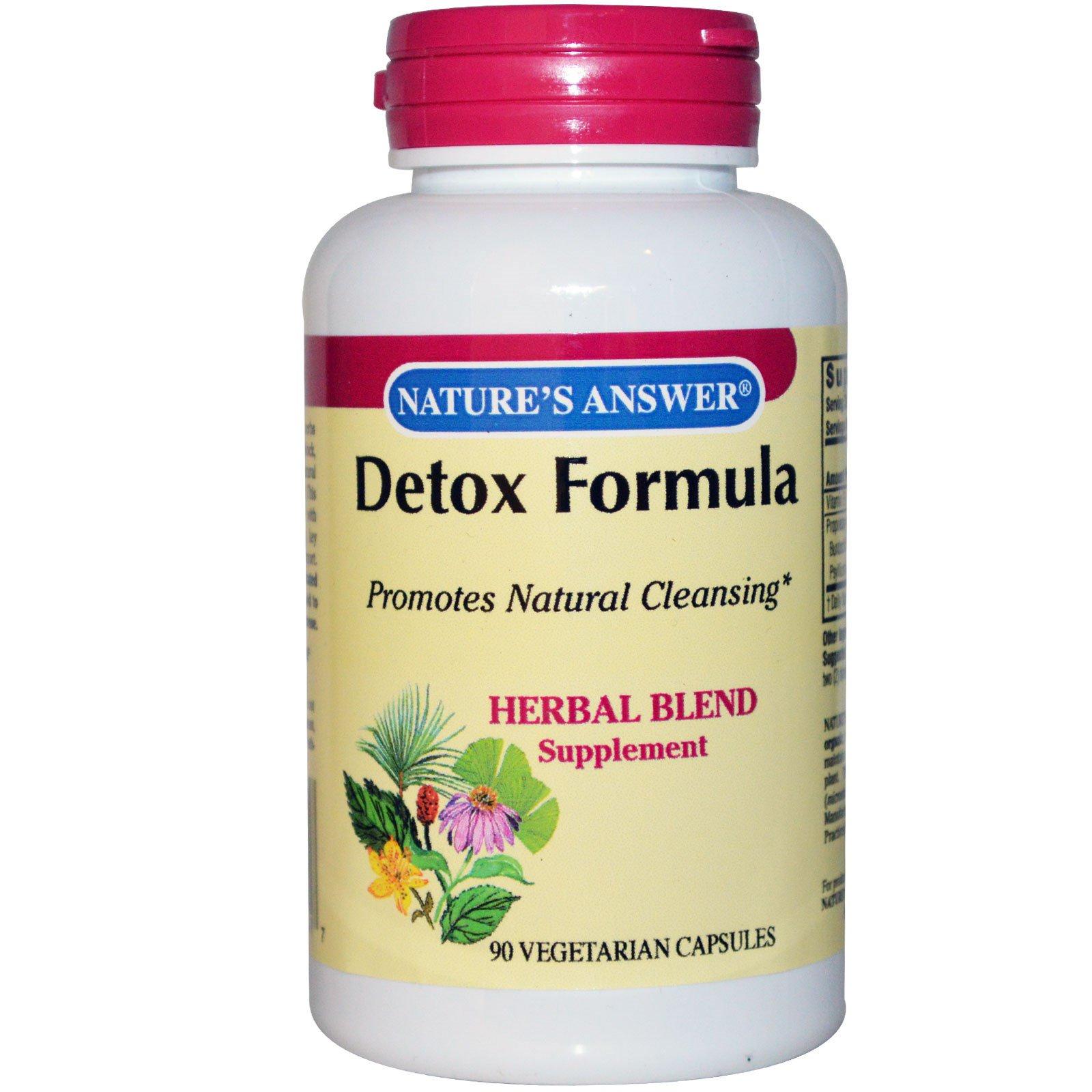 Nature's Answer, Detox Formula, 90 Veggie Caps - iHerb com