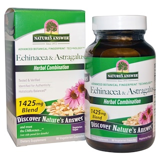 Nature's Answer, Equinácea y Astragalus, 1425 mg, 90 cápsulas vegetarianas