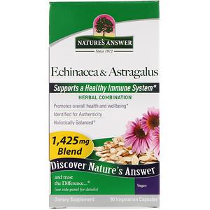 Натурес Ансвер, Echinacea & Astragalus, 1,425 mg, 90 Vegetarian Capsules отзывы покупателей