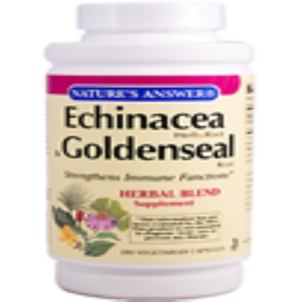 Nature's Answer, Echinacea Herb & Root & Goldenseal Root, 180 Veggie Caps (Discontinued Item)