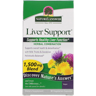 Nature's Answer, Liver Support, 1,500 mcg, 90 Vegetarian  Capsules