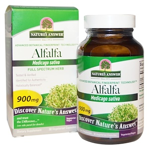 Натурес Ансвер, Alfalfa, Full Spectrum Herb, 900 mg, 90 Vegetarian Capsules отзывы покупателей