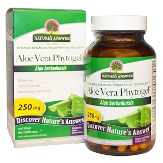 Nature's Answer, Aloe Vera Phytogel, 250 mg, 90 Vegetarian Capsules
