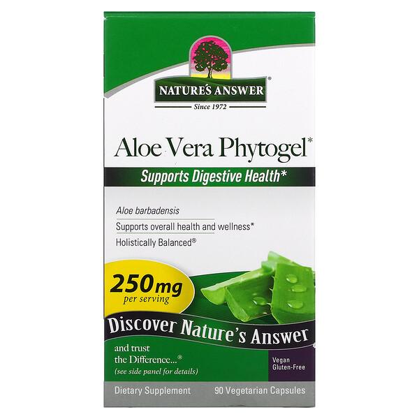 Aloe Vera Phytogel, 250 mg, 90 Vegetarian Capsules