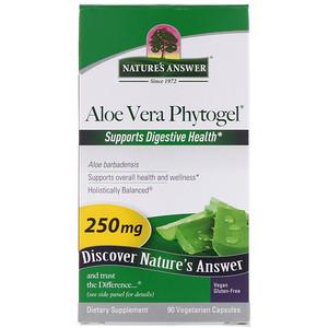 Натурес Ансвер, Aloe Vera Phytogel, 250 mg, 90 Vegetarian Capsules отзывы покупателей