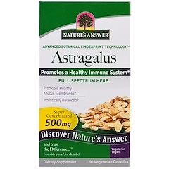 Nature's Answer, アストラガルス、500mg、90ベジキャップ