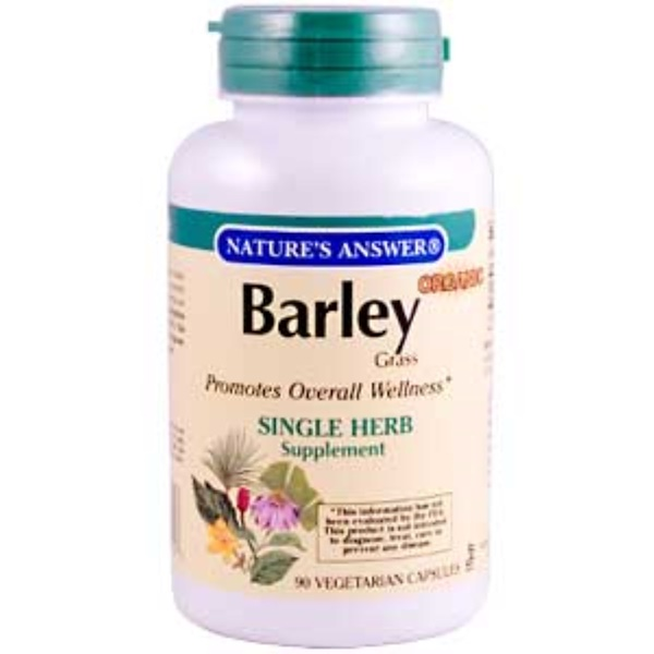 Nature's Answer, Organic Barley Grass, 90 Veggie Caps (Discontinued Item)