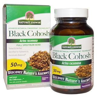 Nature's Answer, Black Cohosh, Full Spectrum Herb, 50 mg, 90 Vegetarian Capsules