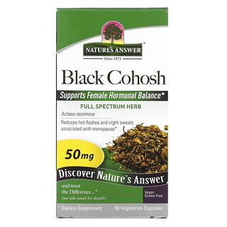 Nature's Answer, Black Cohosh, Full Spectrum Herb, 50 mg, 90 Vegetarian Capsules