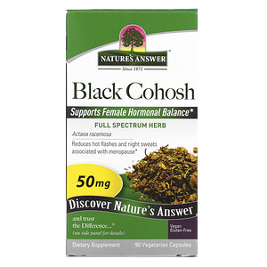 Натурес Ансвер, Black Cohosh, Full Spectrum Herb, 50 mg, 90 Vegetarian Capsules отзывы