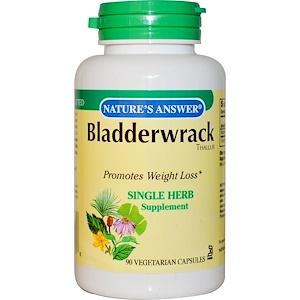 Натурес Ансвер, Bladderwrack, 250 mg, 90 Vegetarian Capsules отзывы покупателей