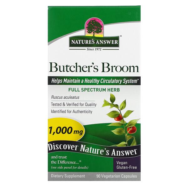 Butcher's Broom, Full Spectrum Herb, 1,000 mg, 90 Vegetarian Capsules