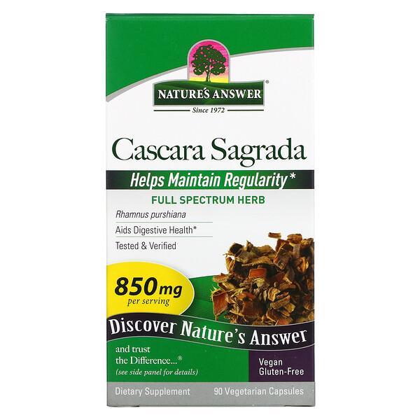 Cascara Sagrada, 425 mg, 90 Vegetarian Capsules