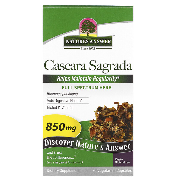 Cascara Sagrada, Full Spectrum Herb, 850 mg, 90 Vegetarian Capsules