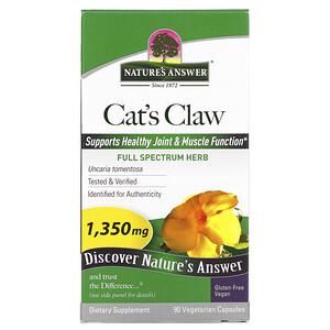 Натурес Ансвер, Cat's Claw, 1,350 mg, 90 Vegetarian Capsules отзывы покупателей