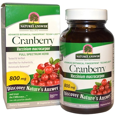 Cranberry, 800 mg, 90 Vegetarian Capsules cranberry with pacs 90 veg capsules
