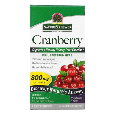 Nature's Answer Cranberry, 800 mg, 90 Vegetarian Capsules