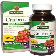 Nature's Answer, クランベリー、 800 mg、 90植物性カプセル