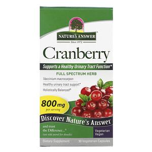 Натурес Ансвер, Cranberry, 800 mg, 90 Vegetarian Capsules отзывы покупателей