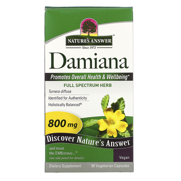 Nature's Answer, Damiana , 800 mg, 90 Vegetarian Capsules