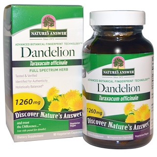 Nature's Answer, Dandelion, 1260 mg, 90 Vegetarian Capsules