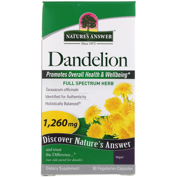 Nature's Answer, Dandelion, 1,260 mg, 90 Vegetarian Capsules