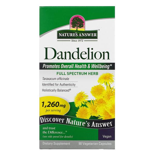 Dandelion, 420 mg, 90 Vegetarian Capsules