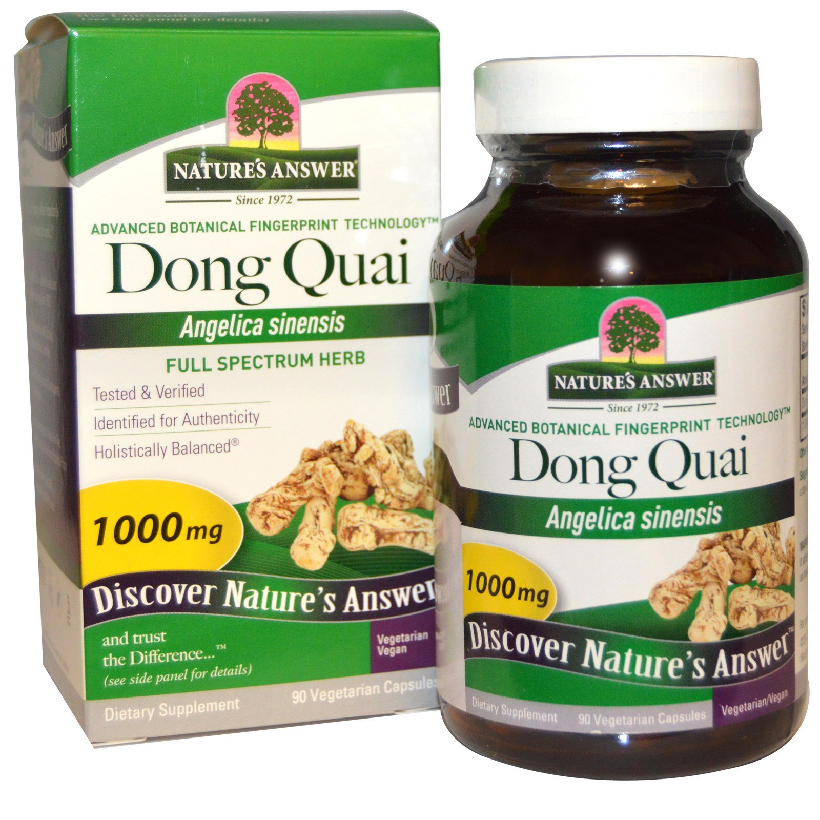 Nature's Answer, Дудник китайский, 1000 мг, 90 растительных капсул
