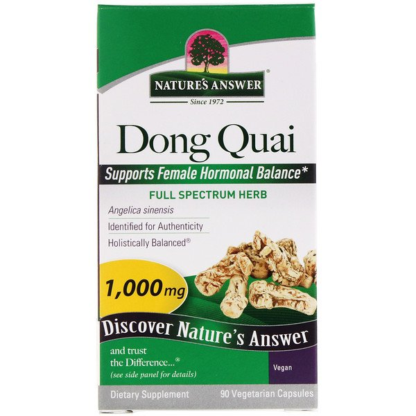 Nature's Answer, Dong Quai, 1000 mg, 90 cápsulas vegetarianas