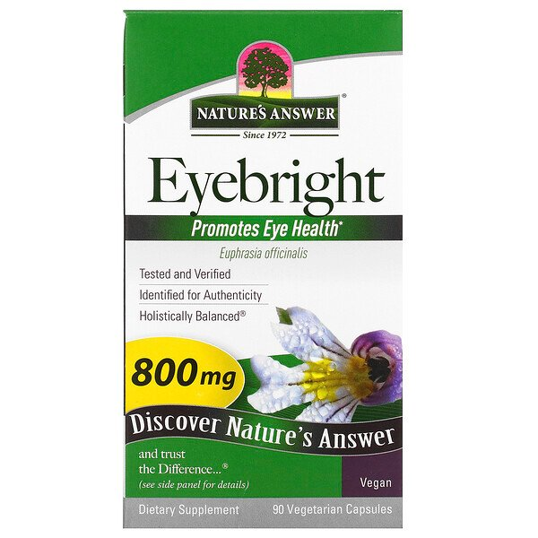 Nature's Answer, Eyebright, 800 mg, 90 cápsulas vegetales